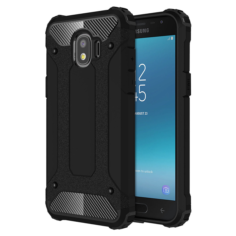 premium selection 7c574 af668 Black Military Defender Shockproof Case - Samsung Galaxy J2 Pro (2018)